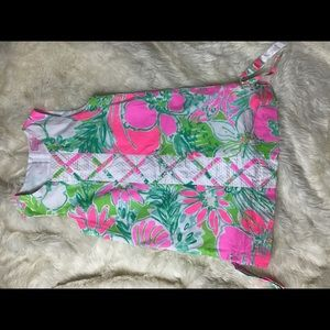 Lilly Pulitzer sleeveless floral dress size 7
